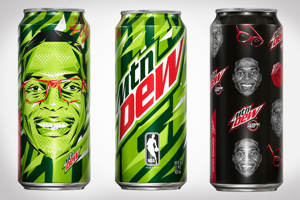 Russell Westbrook + Mountain Dew Limited Cans