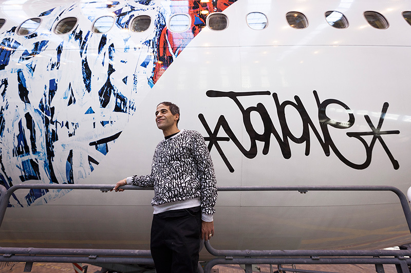 Air France Unveils Redesigned Accent by Graffiti Artist Jonone