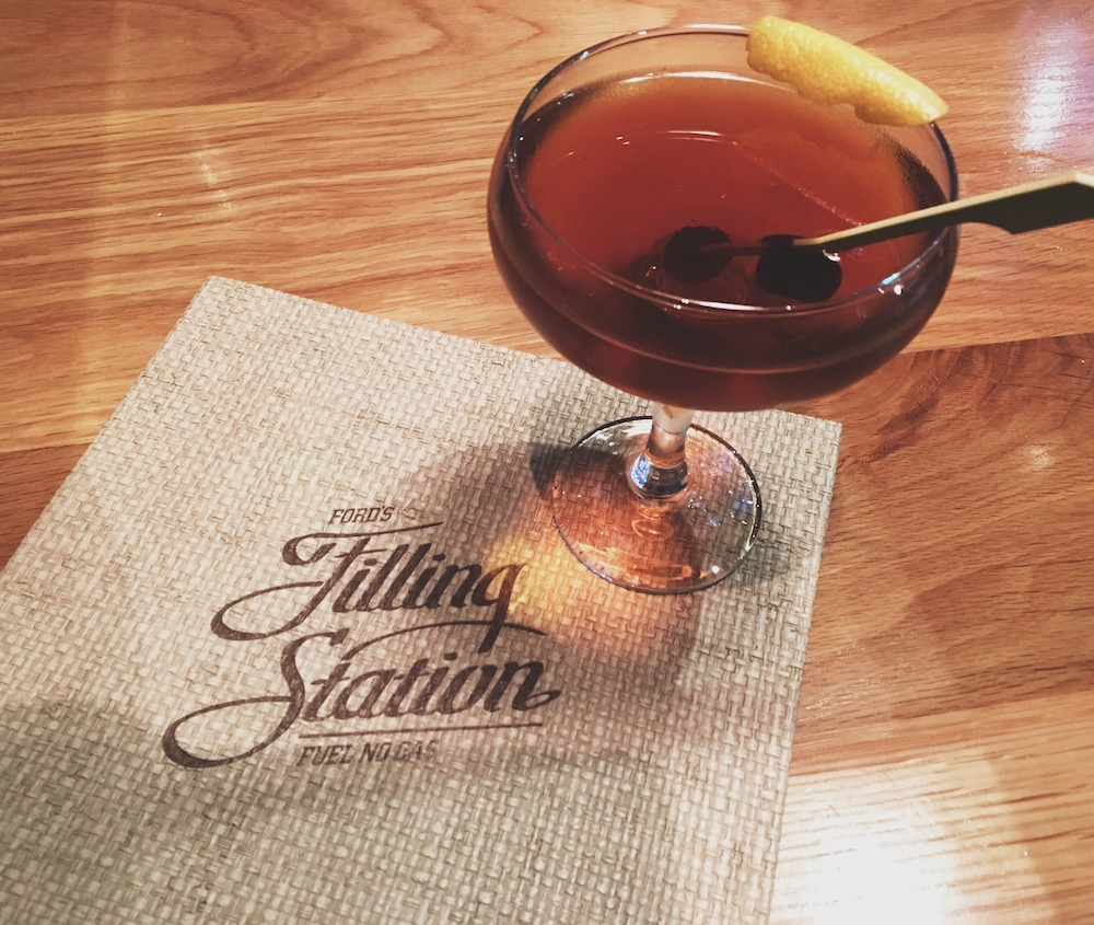 Manhattan Cocktail from Ford's Filling Station