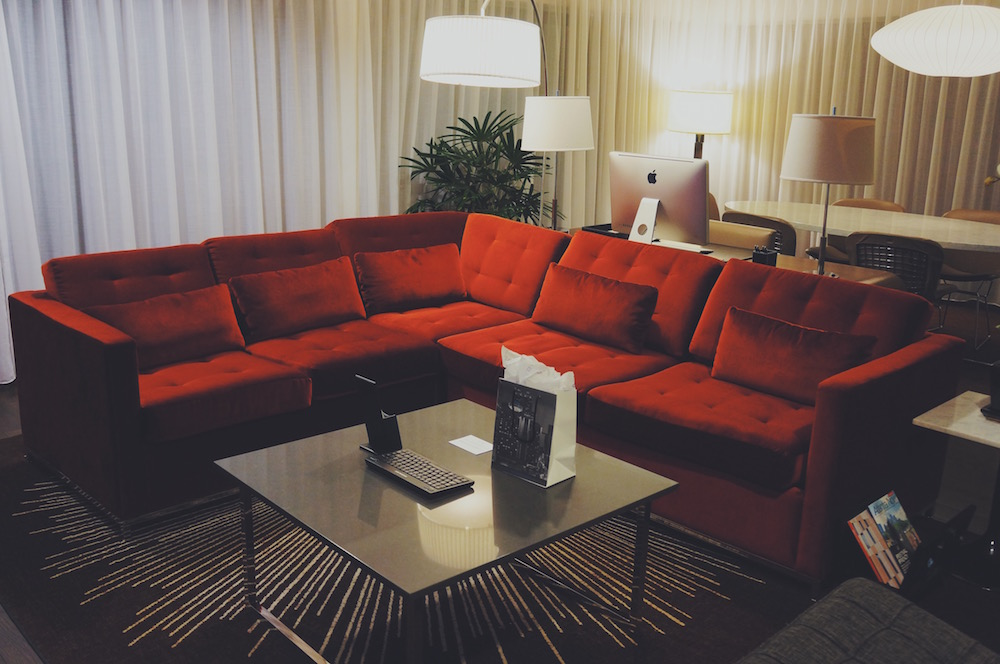 'Premium Suite' living room at Hyatt Regency #GetCarded