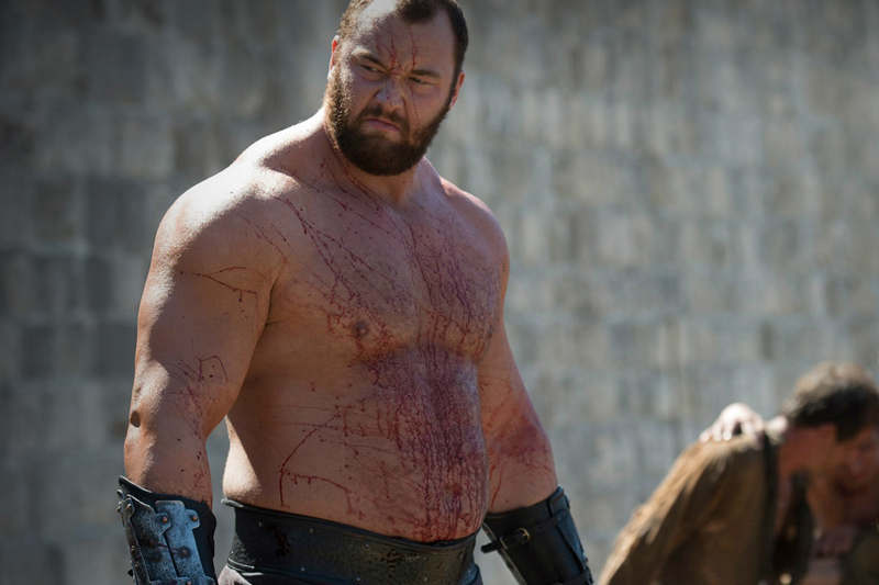 The Mountain from The Game of Thrones Breaks Keg Toss Competition