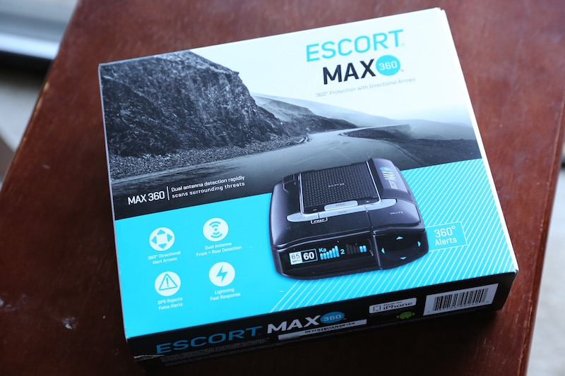 escort 360 max radar detector