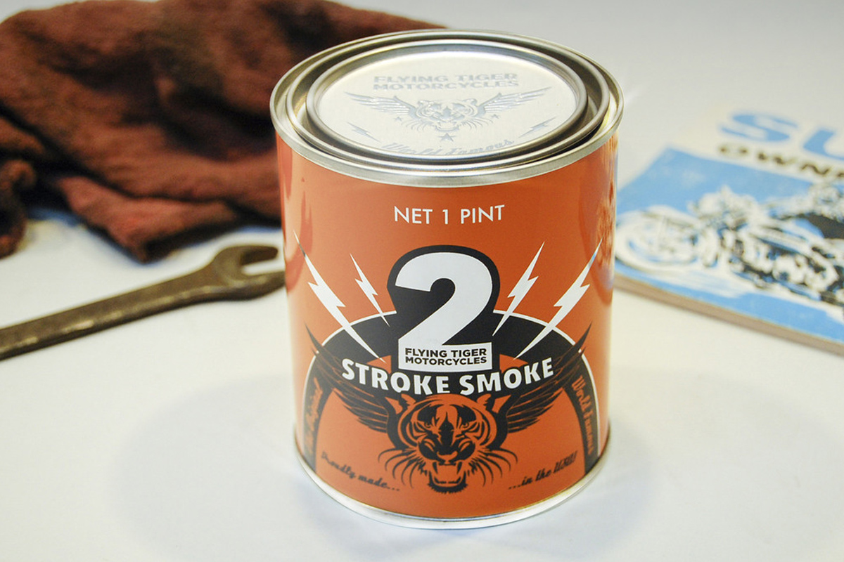 Two Stroke Smoke Candle, Made With Actual Motor Oil
