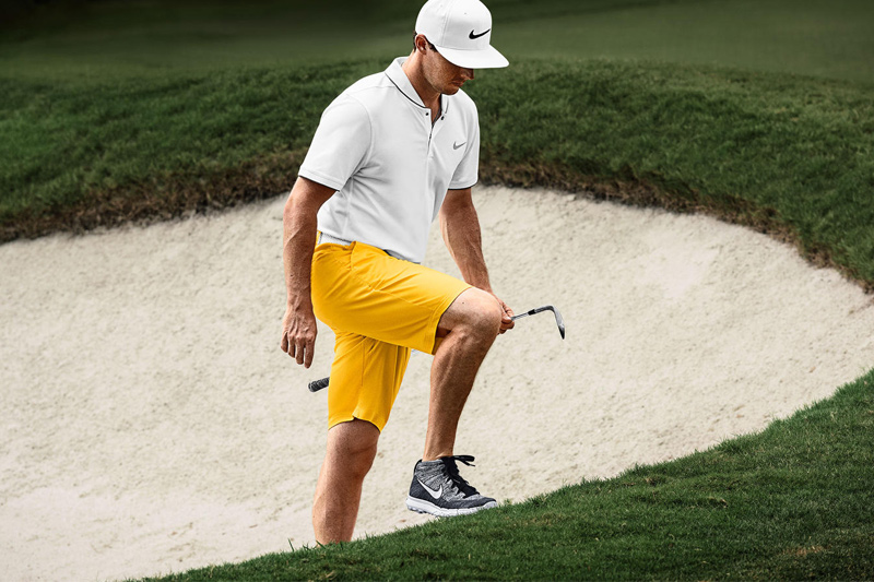 Rory McIlroy Wearing the Nike Golf Flyknit Chukka