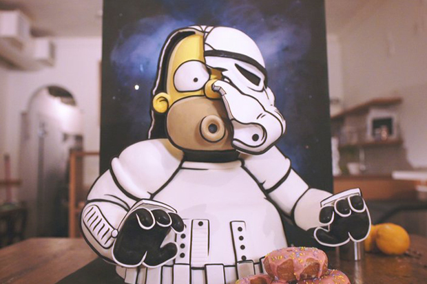 An Incredible Stormtrooper Homer Simpson Cake from Letterpress Bakery