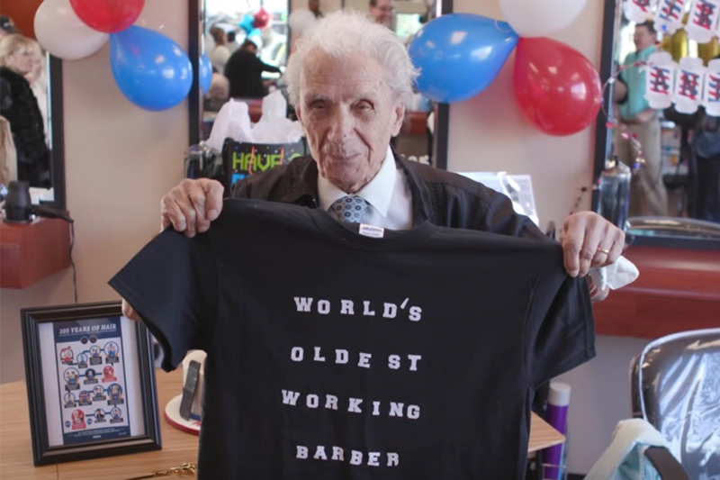 """World's Oldest Barber"" - Anthony Mancinelli"