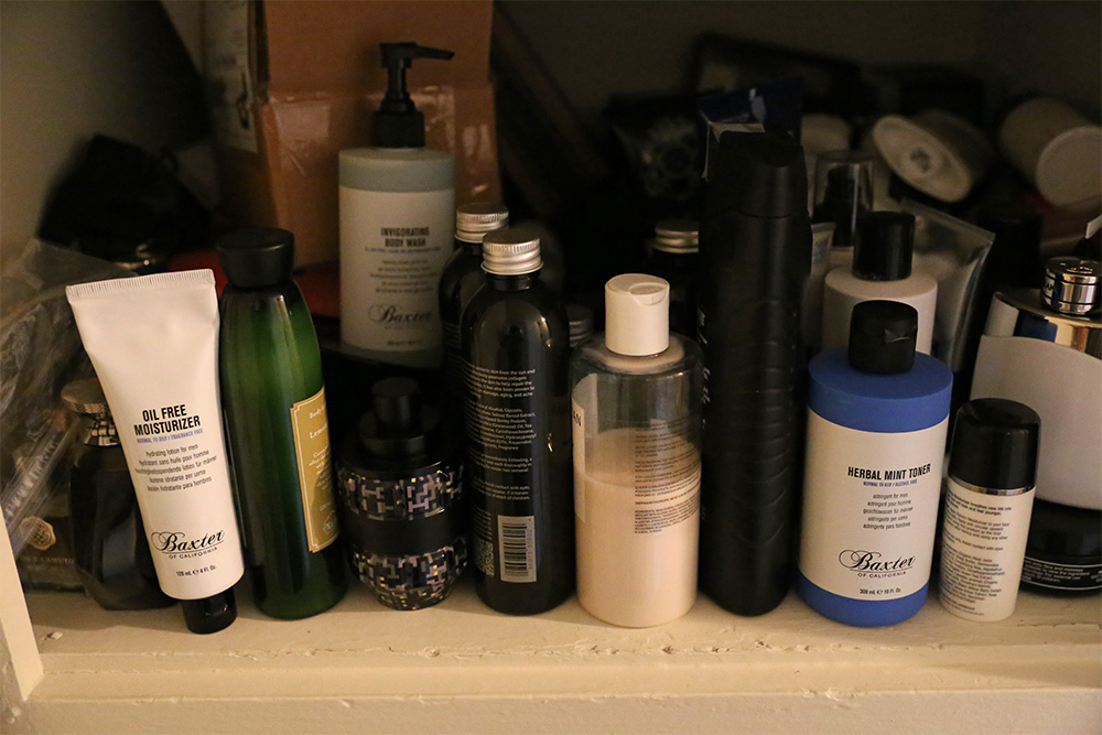 Cluttered Cabinet