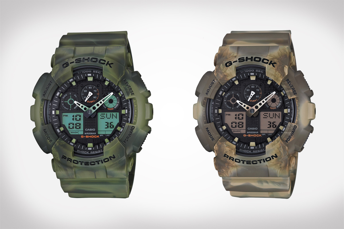 G-Shock Marble Pattern Watches