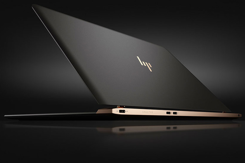 The HP Spectre 13 Notebook is 10.4 mm thick and weighs in just under 2.5-pounds. Inside you'll find 8GB RAM, a Core i5/i7 CPU, and storage space up to 512GB SSD