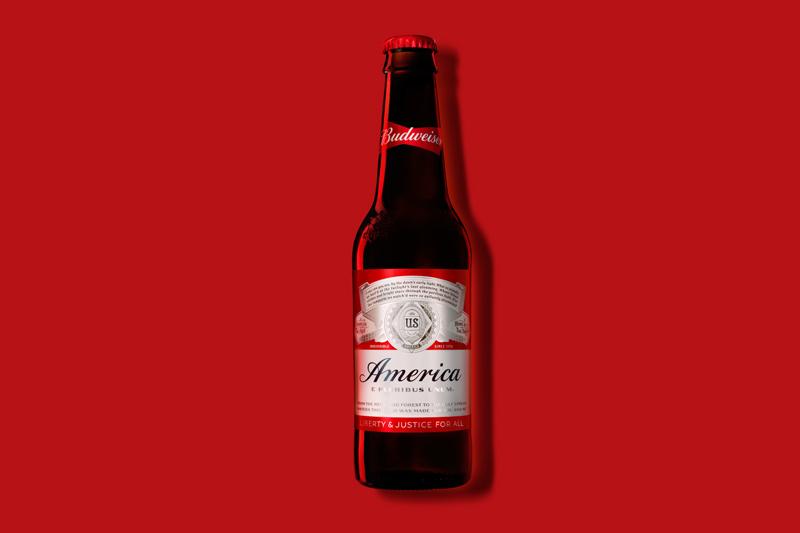 """Budweiser Brands """"America"""" on Bottles for Summer"""