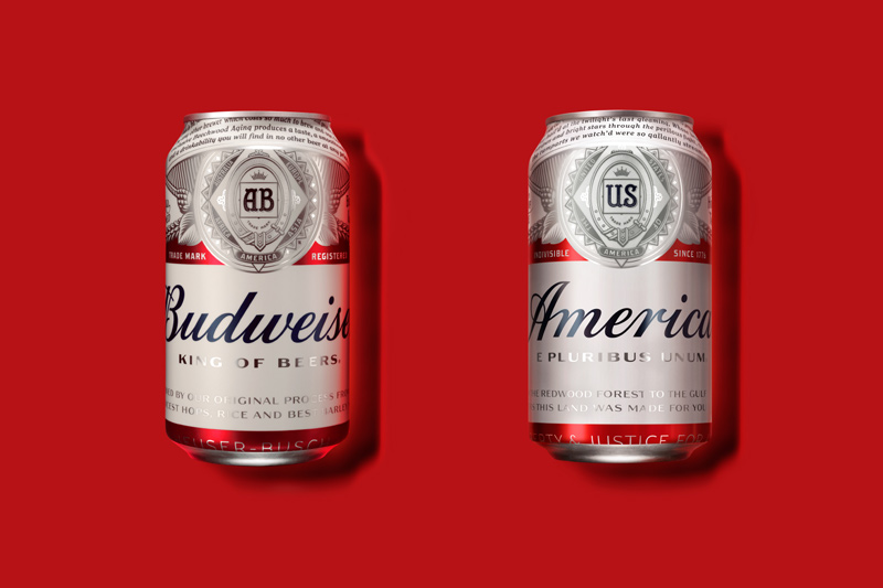 """Budweiser Brands """"America"""" on Cans for Summer"""