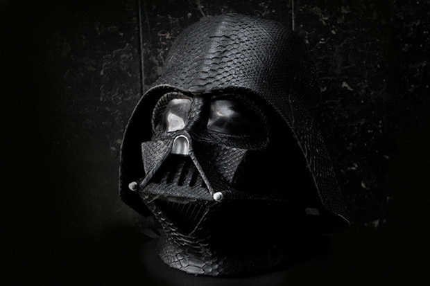 Python Skin Covered Darth Vader Helmet