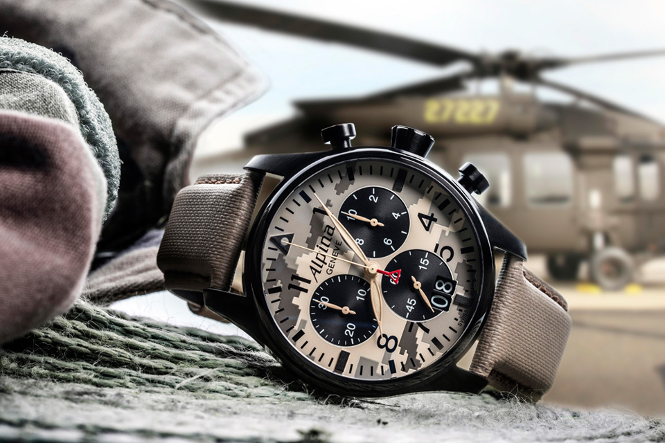 The Alpina Startimer Camouflage Pilot Chronograph