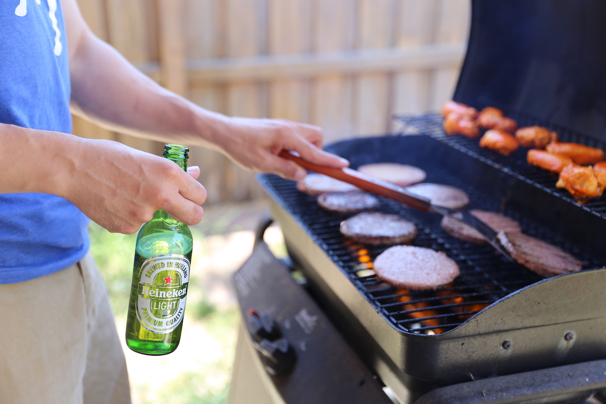 Grill Master with Heineken Light
