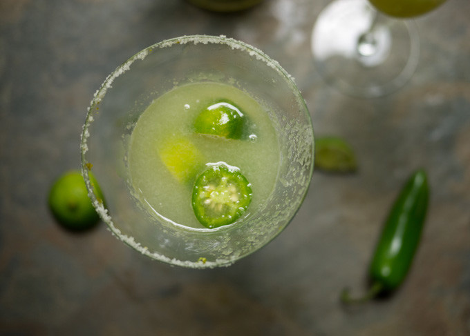 Spicy Margarita Made with Altos Añejo Tequila