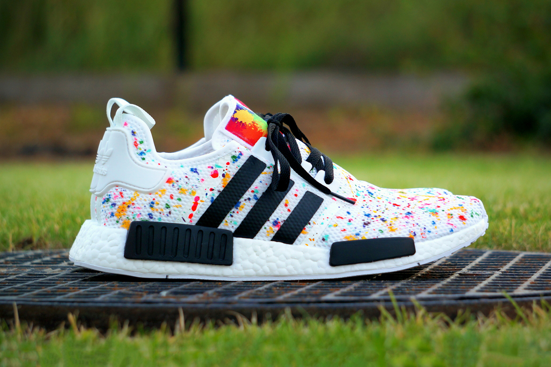 "Wujekrada Customs Reworks adidas NMD with a ""Multicolor Splash"""