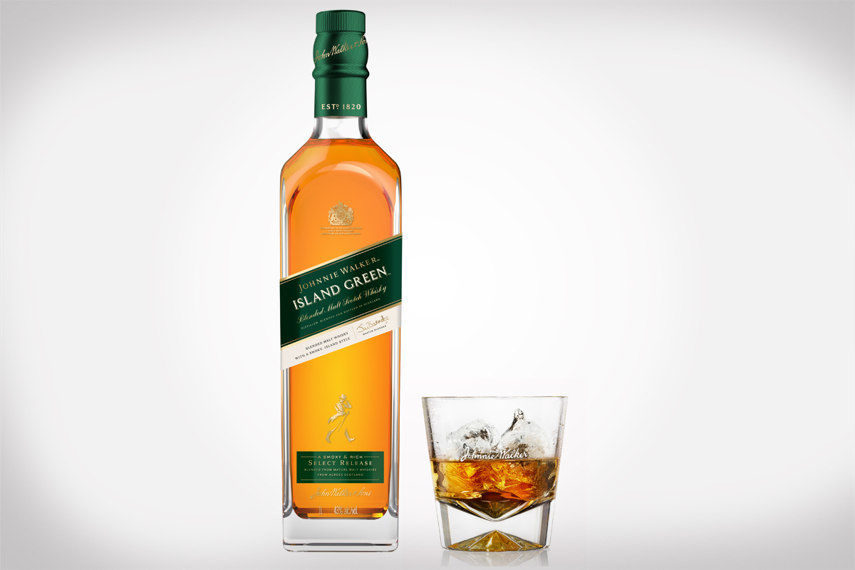 Johnnie Walker Island Green Launches in Duty Free