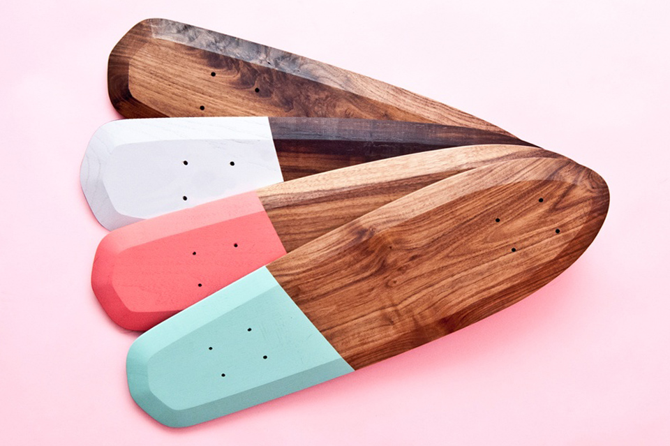 Rollholz Retro Styled Skateboard Collection