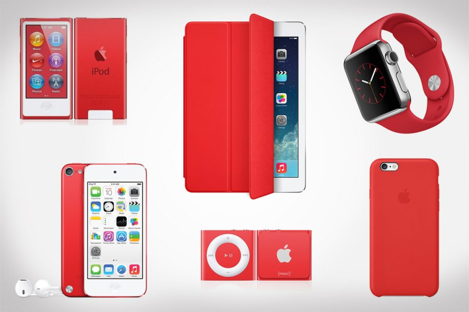Apple Product Red 2016 Holiday Collection