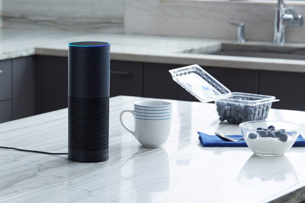 Amazon Echo in Kitchen