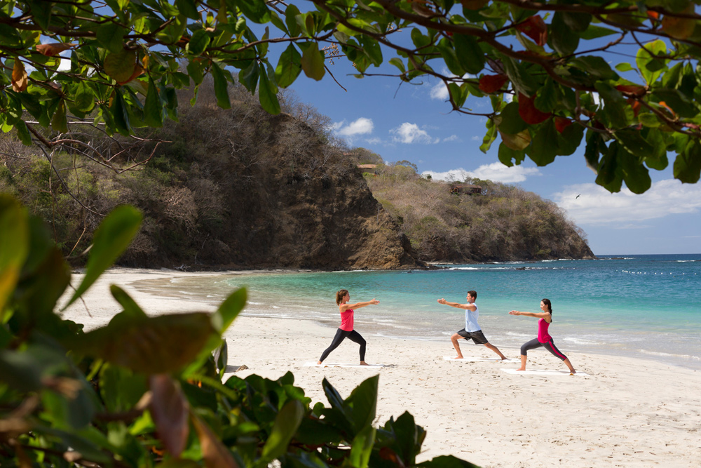 'Pura Vida For All' - Kelli Ricco Leading Yoga on Beach at Four Seasons Resort Costa Rica