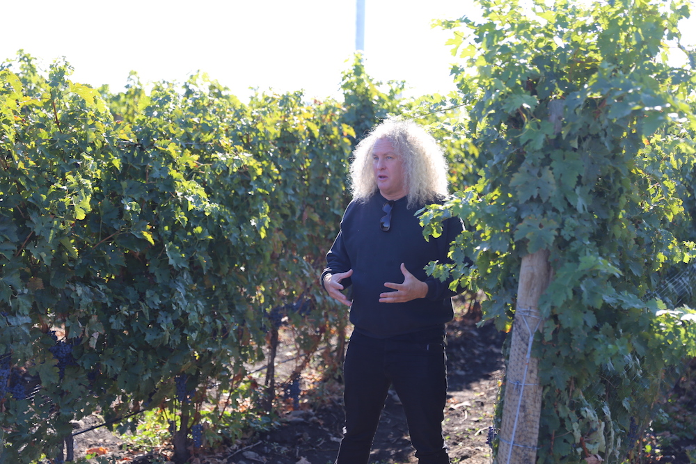 Charles Smith Touring his Vineyards