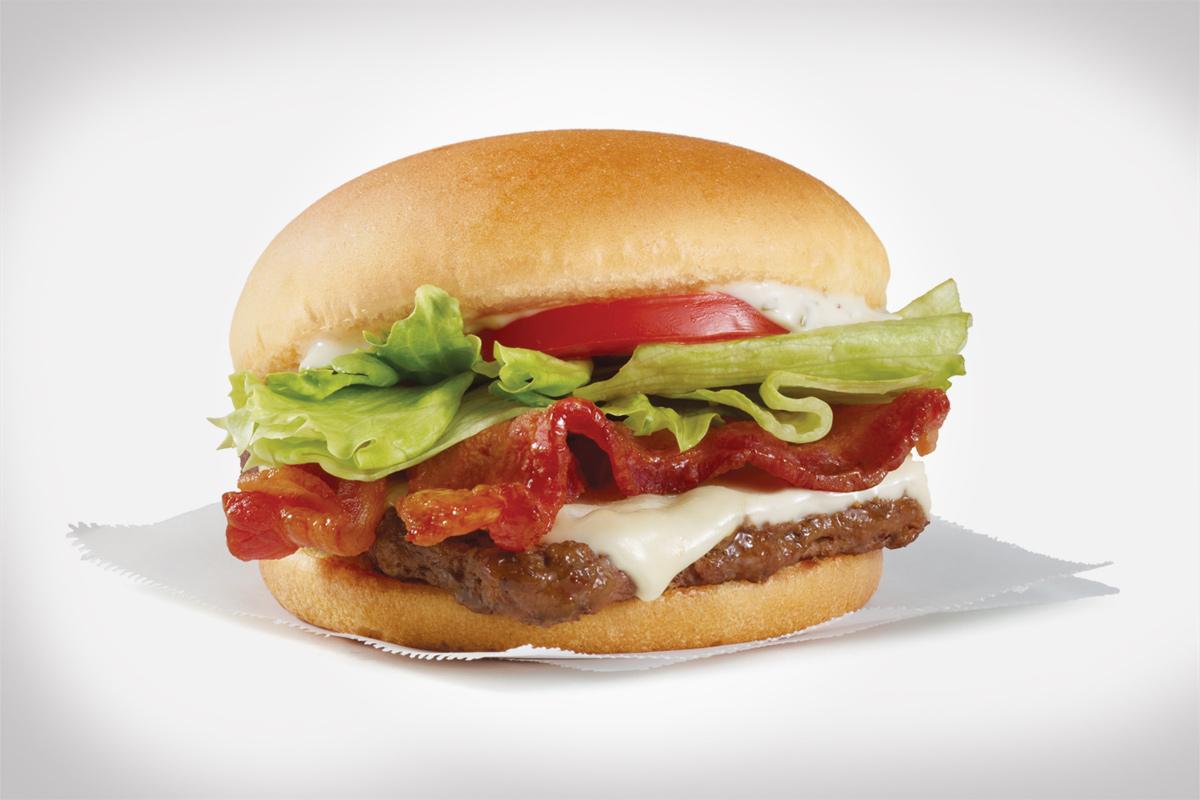 Wendy's Swiss Jr. Bacon Cheeseburger