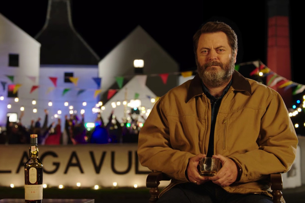 Nick Offerman Drinks Lagavulin for an hour