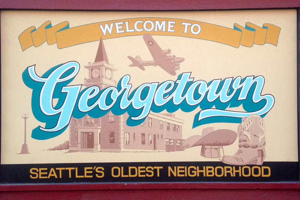 Welcome to Georgetown Seattle Sign