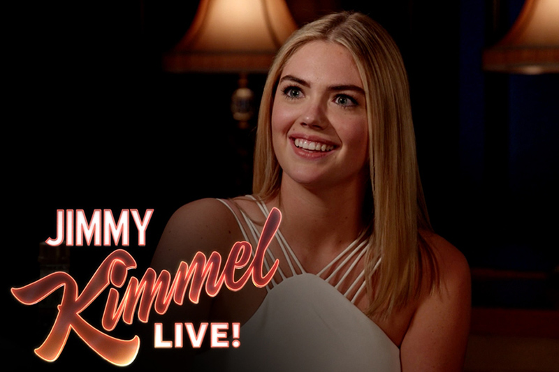 Jimmy Kimmel Asks Kate Upton 3 Ridiculous Questions