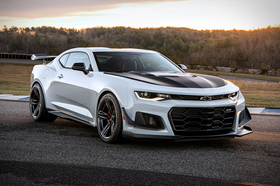 The Camaro ZL1 evolved the classic muscle car into something more powerful and refined. The 2018 Chevrolet Camaro ZL1 1LE continues the process. Built with the track in mind, it ekes out even better lap times thanks to several modifications. It has a new aero package that increases downforce, an adjustable suspension, lighter wheels, and thinner rear glass that, when combined with the fixed back seat, helps get the most out of its 650-horsepower, supercharged LT4 engine.