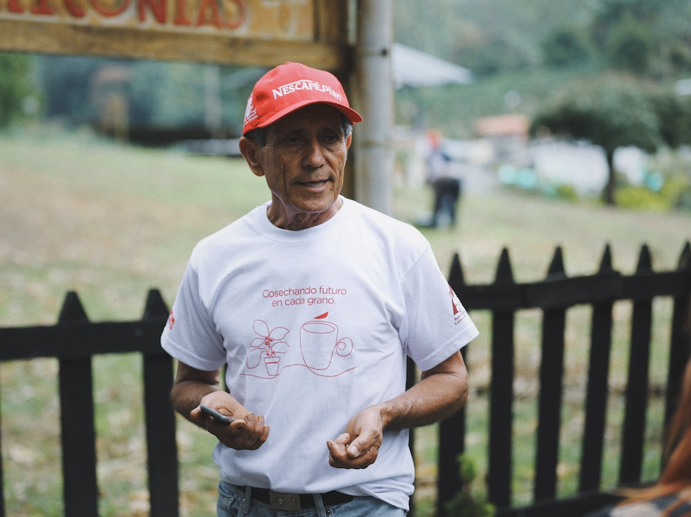 Nescafé Colombian coffee farmer