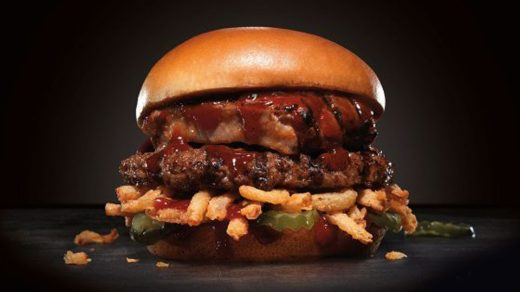 Carl's Jr. Baby Back Ribs Burger