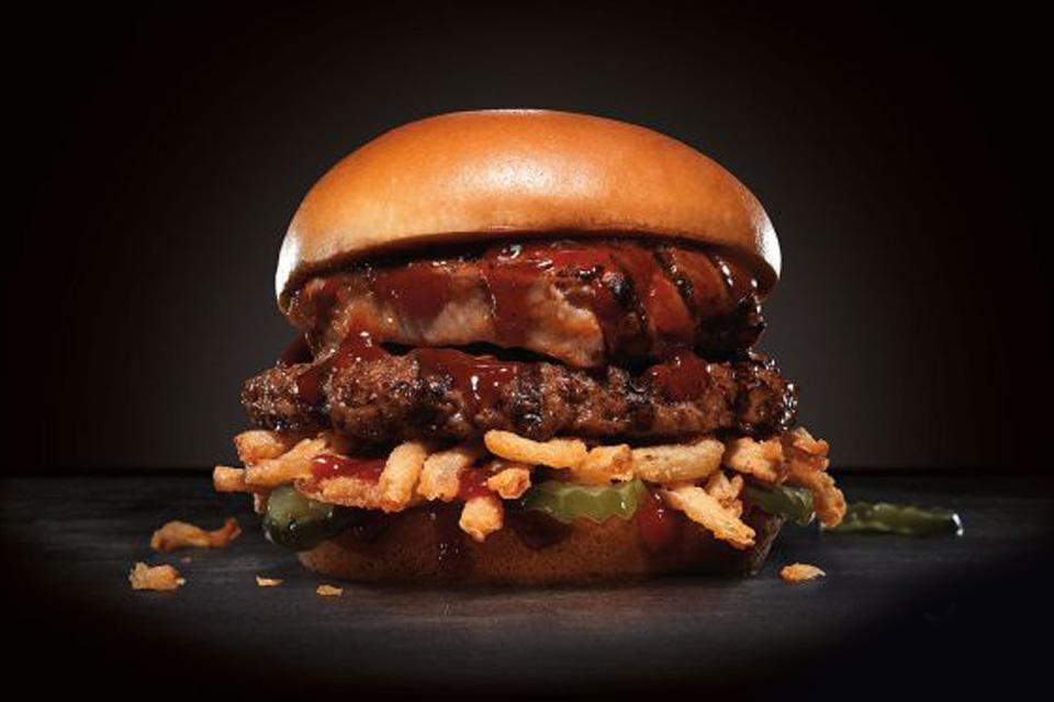 Carl's Jr. Baby Back Rib Burger