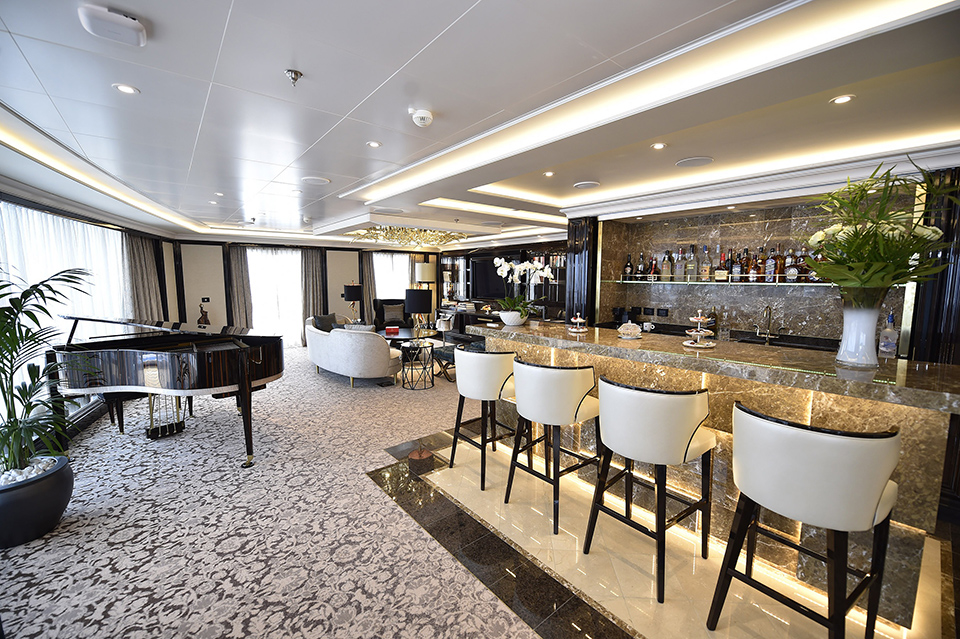 'The Regent Suite' aboard the Seven Seas Explorer cruise ship