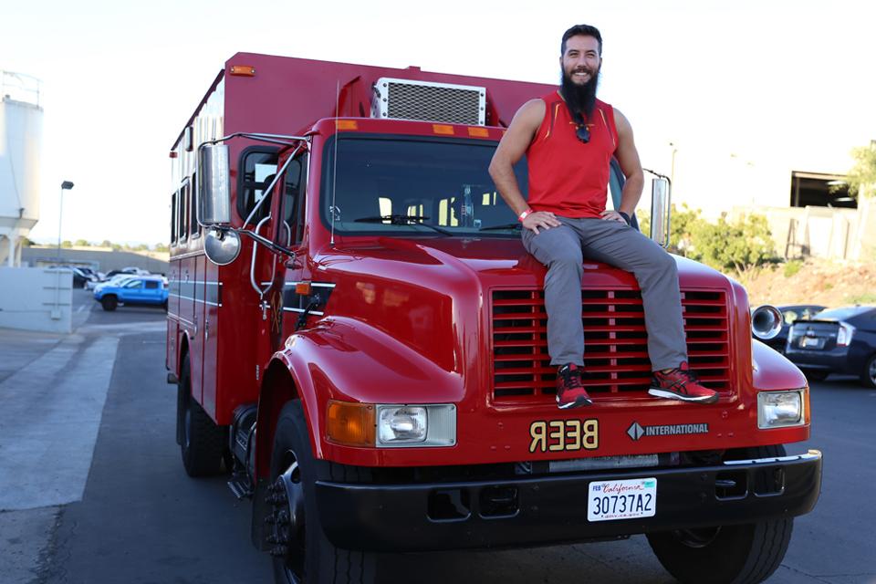 Hot Shots Brewery Tour fire truck