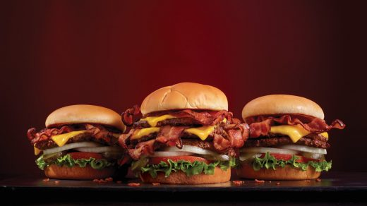 Steak N' Shake Bacon N' Cheese Triple Xtreme Steakburger