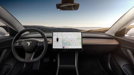 Interior of the new Tesla Model 3