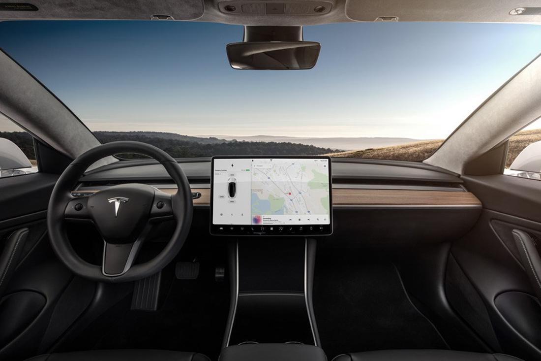 Interior of the Tesla Model 3