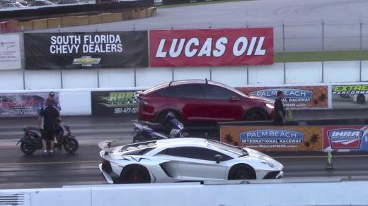 Tesla Model X beats Lamborghini Aventador