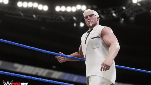 Colonel Sanders is a playable character WWE 2K18