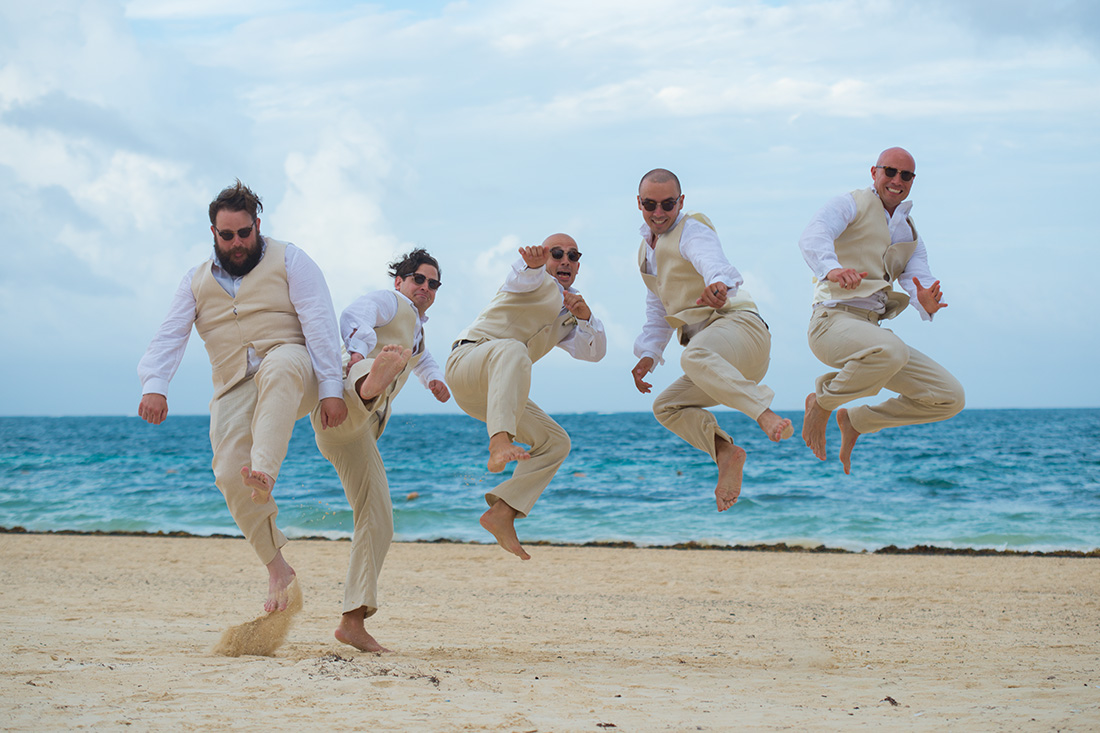 Linen Beach Wedding Suits for Grooms and Groomsmen