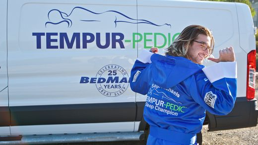 Tempur-Pedic surprises their new sleep ambassador