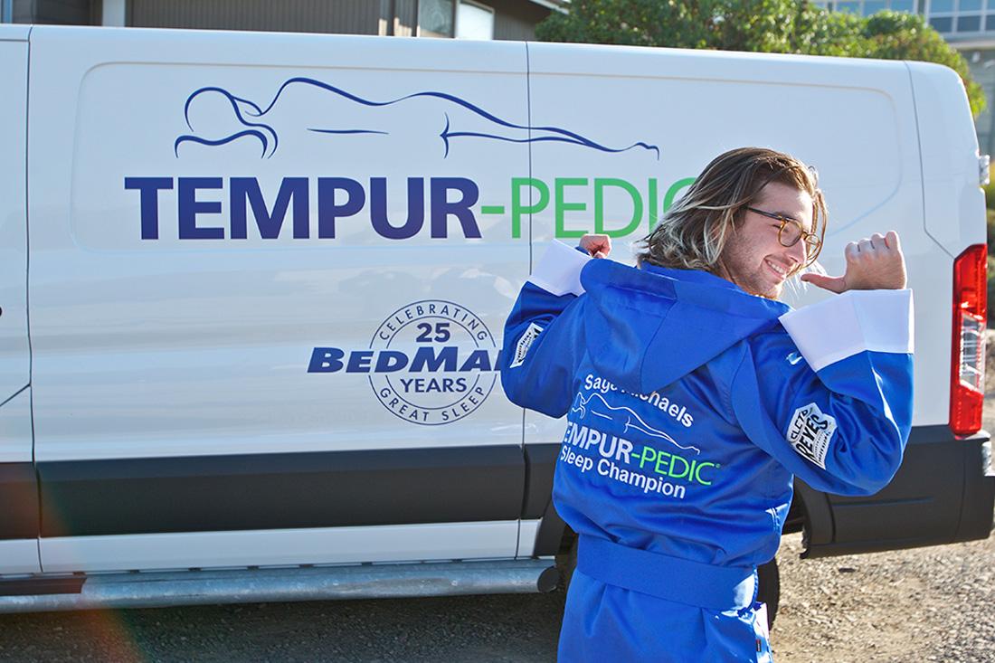 Tempur-Pedic surprises Sage Michaels, their new sleep ambassador