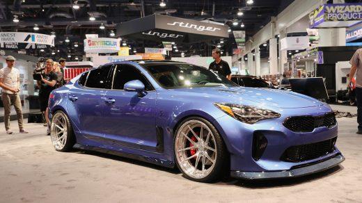 The Kia Stinger GT x West Coast Customs collaboration reveal at SEMA 2017