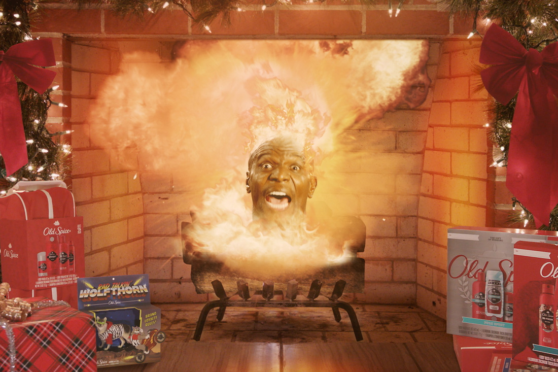 Terry Crews Blows Up Yule Log