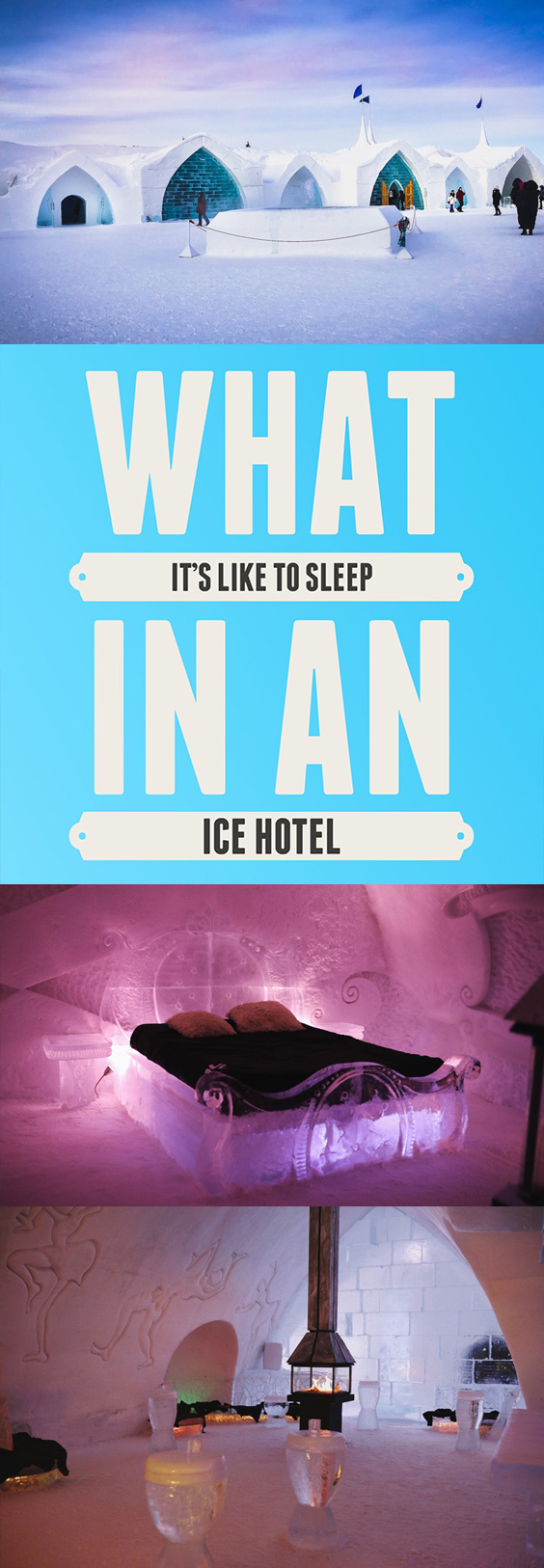 What it's like to stay in an ice hotel – Hotel de Glace