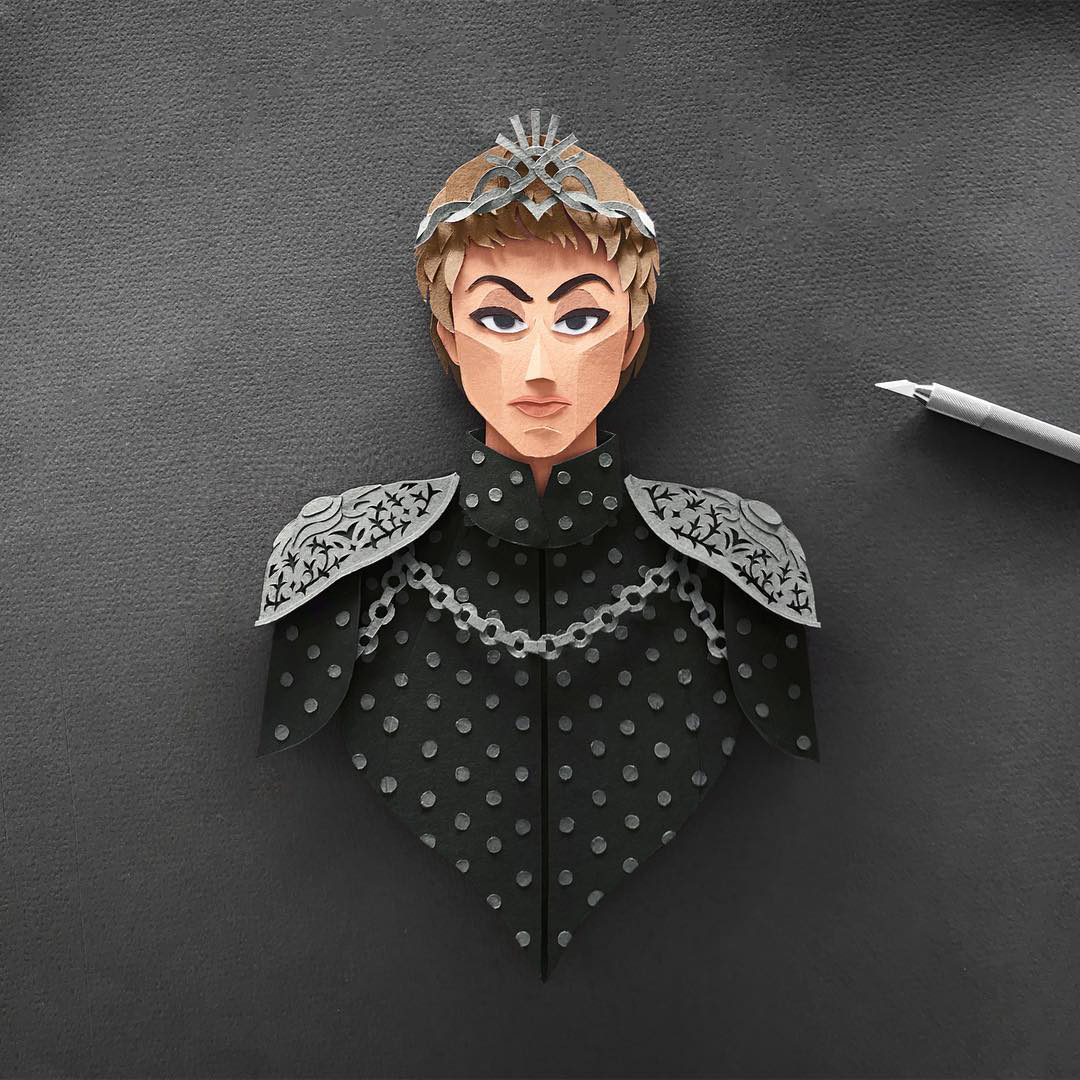 Cersei Lannister Gregorio Game of Thrones Papercut