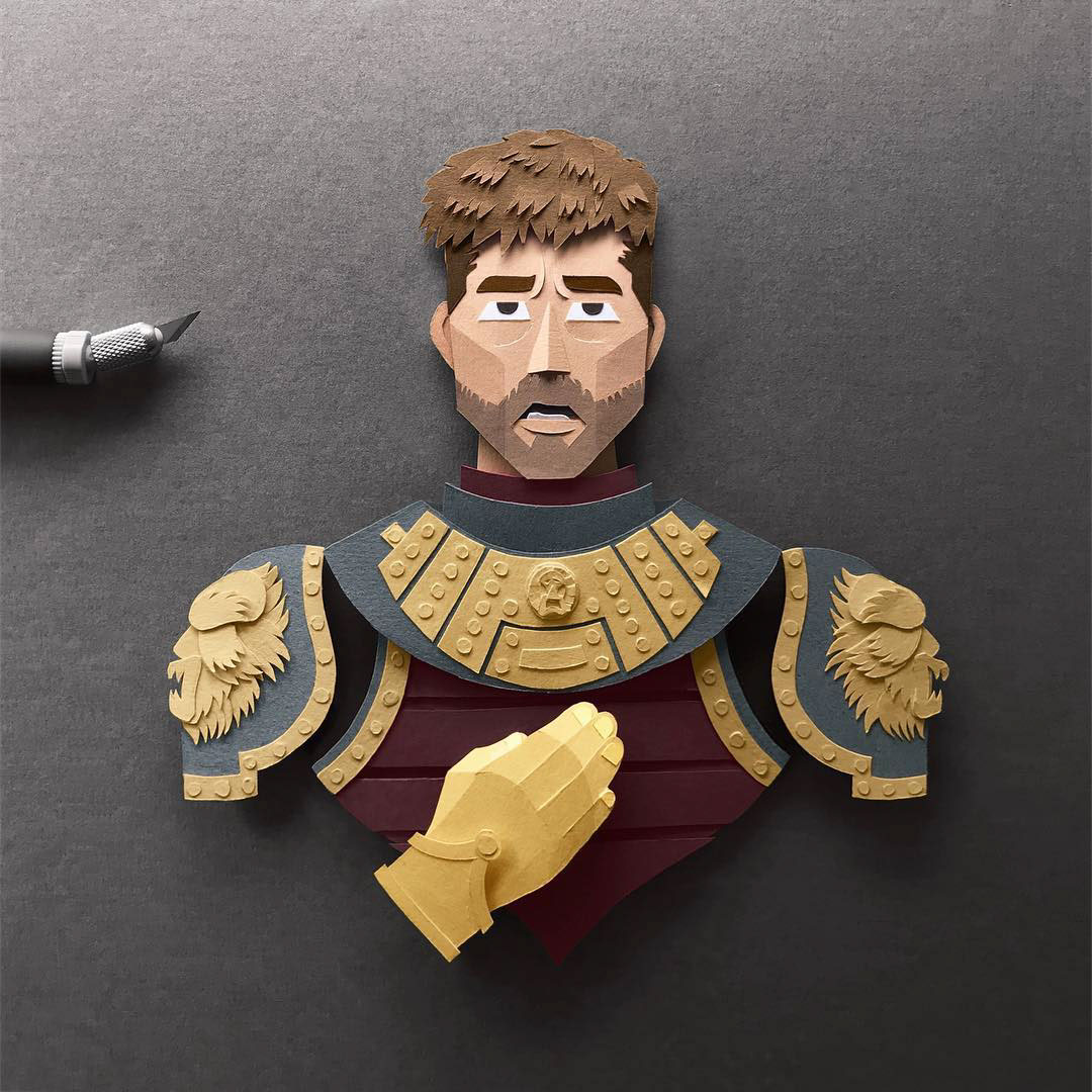 Jaime Lannister Gregorio Game of Thrones Papercut