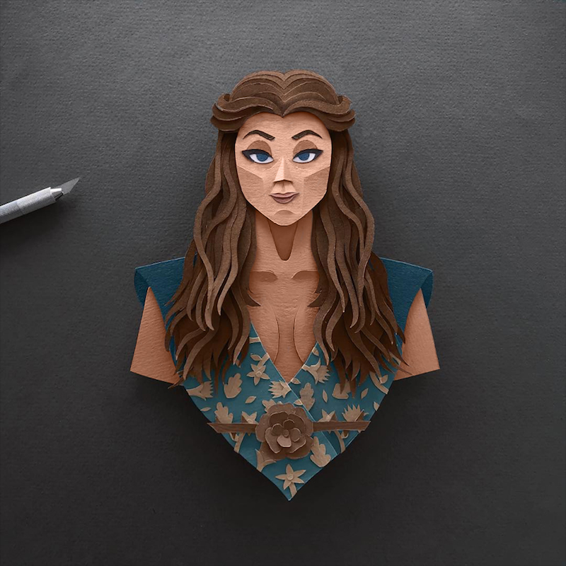 Margaery Tyrell Gregorio Game of Thrones Papercut
